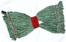 Heavy Duty Mop Head Replacement GREEN Cotton Indus/Comerc/Resid