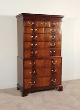 HICKORY CHAIR James River Collection 11 Drawer Flame Mahogany Highboy Tall Chest