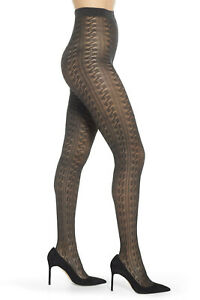 Nordstrom Open Knit Tights, Open knit, Made in Italy, DARK CHARCOAL, Small, NEW