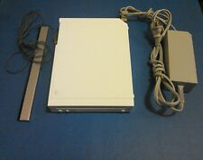 NINTENDO WII (RVL-001) WHITE CONSOLE, POWER CORD and SENSOR
