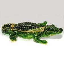 Crocodile collection en email, strass - Boite a secret Faberge style - Crocodile