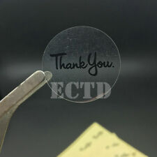 120PCS Clear Black Thank you Sticker invitations sealing stickers 1.18""
