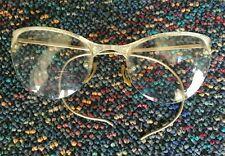 Vintage Shuron 1/10 12K Gf Cat Eye Eyeglasses - White Gold
