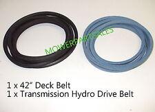"Husqvarna Hydro Drive & 42"" Deck Belt Set CTH191 CTH200 CTH210 CTH220 CTH2542"