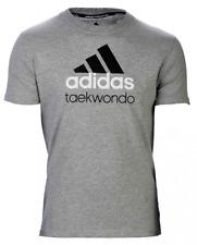 adidas Community line T-Shirt Taekwondo grau/schwarz, Gr. S - XL, Taekwondo,