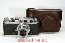 Rare Russian Zorki-Zorki with Industar-22 lens RF film camera.Exc--,repaired