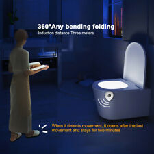 8 Color Toilet Night Light LED Motion Activated Sensor Bathroom Seat Night Light