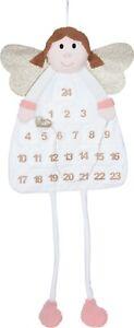 120cm Felt Hanging Christmas Angel Advent Calendar Christmas Countdown Pockets