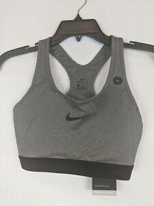Nike Classic Pro Sports Bra, Gray, Women's Medium