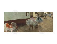 BALLET ART PRINT - The Dance Lesson, c. 1879 by Edgar Degas Museum Poster 11x14
