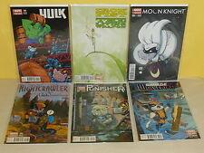 6 MARVEL ANIMAL VARIANTS - Hulk IRON FIST Moon Knight NIGHTCRAWLER Wolverine +