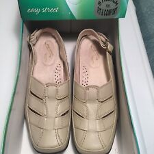 Easy Street Sandals Ladies Shoes Stone Color Size 7  Beige Close Toe $54Val