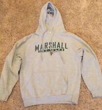 Marshall Thundering Herd Hoodie Sweatshirt ~ Sz Medium ~ Gray