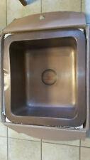 Whitehaus Copperhaus WH1921COUM‑OCS Smooth Old Copper Undermount Kitchen Sink