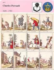FICHE CARD Charles Perrault 1628-1703 Le chat Botté Musée d'Epinal France 90s