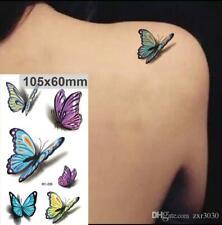 3D Temporary Waterproof Butterfly Tattoos Stickers Body Art