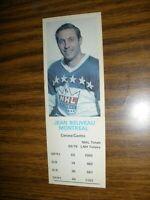 1970-71 Dad's Cookies Jean Beliveau Montreal Canadiens NM