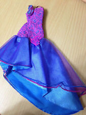 Barbie My Scene Dress To Impress Madison Doll Outfit Blue Purple Lace Print Gown
