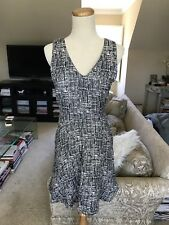 Joie Black & White Pattern Dress Sz S