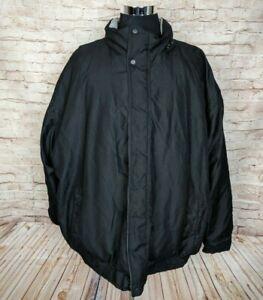 Harbor Bay Big Mens 3XL Insulated Fleece Lined Jacket Black