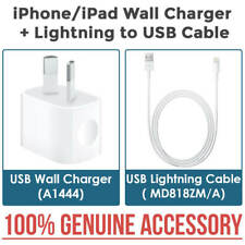 NEW 100% Genuine APPLE Wall Charger + Lightning Cable for iPhone 7 6 5 5S 5C