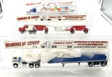 TRUCKS N' STUFF HERPA PROMOTEX HO 1/87 3 x CAMIONS US MACK PETERBILT KENWORTH...