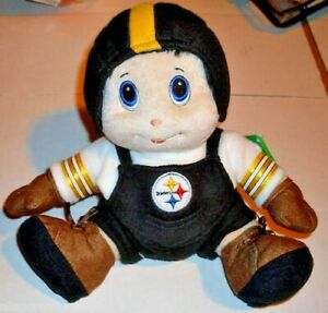 """NFL Pittsburgh Steelers 8"""" Plush Mascot with Helmet by SC Sports"""