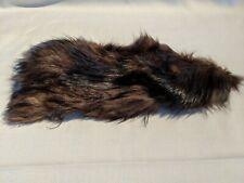 Vintage Brown Black Fur Pelt Leather Hide