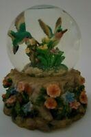 "Musical Snow Globe - Hummingbirds, Flowers Decoration (6"" Height)"