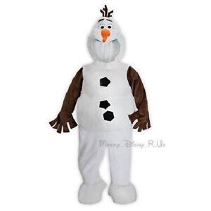 Genuine Authentic Disney Store Frozen OLAF Snowman Halloween Costume Dress Up