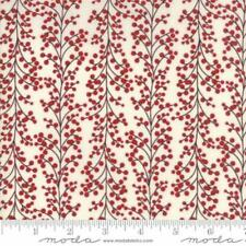 Christmas Fabric, Moda Winter Village, Berries White, By The Yard, TheFabricEdge