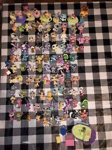 Littlest Pet Shop LPS bobble head Huge Lot 100 pets Play Quality