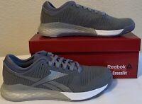 Reebok Womens Nano 9 Shoes Crossfit (8.5) Gray Wasind/Dendus/White NIB