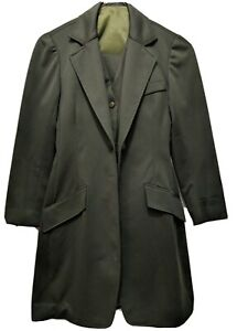 Green 3 Piece  Saddleseat suit size 10