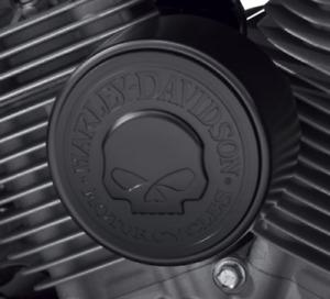 Harley Davidson BLACK OEM NEW Willie G. Skull Horn cover Softail Dyna Touring