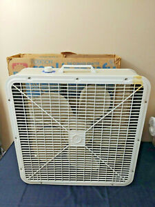 Vintage Metal Box Fan ~ Robeson ~ Original Box ~ Tested Working ~ Makes Noise ~