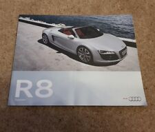 Audi R8 Spyder Brochure Prospect Deutsch German 2009