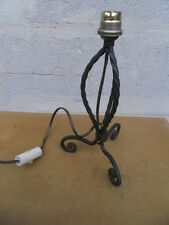 ANCIEN PIED DE LAMPE VINTAGE FRENCH LAMP ART DECO metal fer forgé ATELIER LOFT