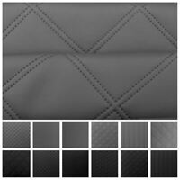 Quilted Faux Leather Diamond Fluted Car Seating Vehicle Upholstery Fabric