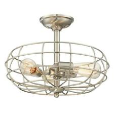 Savoy House Lighting Filament Design 3-Light Satin Nickel Semi-Flush Mount