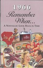 51st Birthday Remember When Book 1966