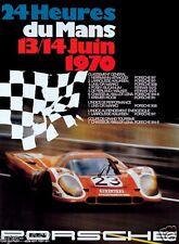Le Mans Porsche grand prix colour Large 1970 Vintage poster