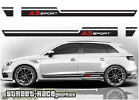 Audi A3 018 racing stripes graphics stickers decals S1 quattro sport