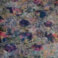 Hawaiian Print Batik, Fish, Green, Gold & Pink Multicolor, A Hoffman Cotton, BTY