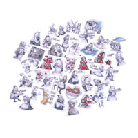 40Pcs Alice Adventures Mixed Sticker Diary Scrapbooking Decal Laptop Sticker S!