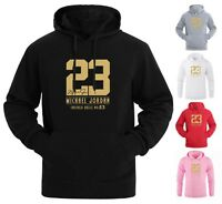NEW Gold Print Michael Air 23 Jordan Mens Hoodie Sweatshirts Fashion Men Hoodies