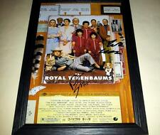 "THE ROYAL TENENBAUMS SIGNED & FRAMED 12""X8"" POSTER WES ANDERSON"