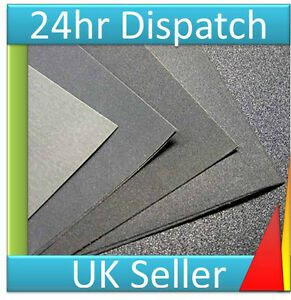6 x Assorted WET and DRY 1000 to 1500 grit Very Fine Sand Paper Sandpaper sheets