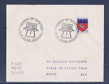 ec68/ Enveloppe   timbres er peinture  le Grand Quevilly     1968
