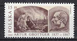 POLAND 1987 **MNH SC#2794 150th ann. of the painter's Birthday, Arthur Grottger